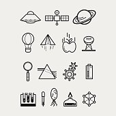 Sixteen Science Icons