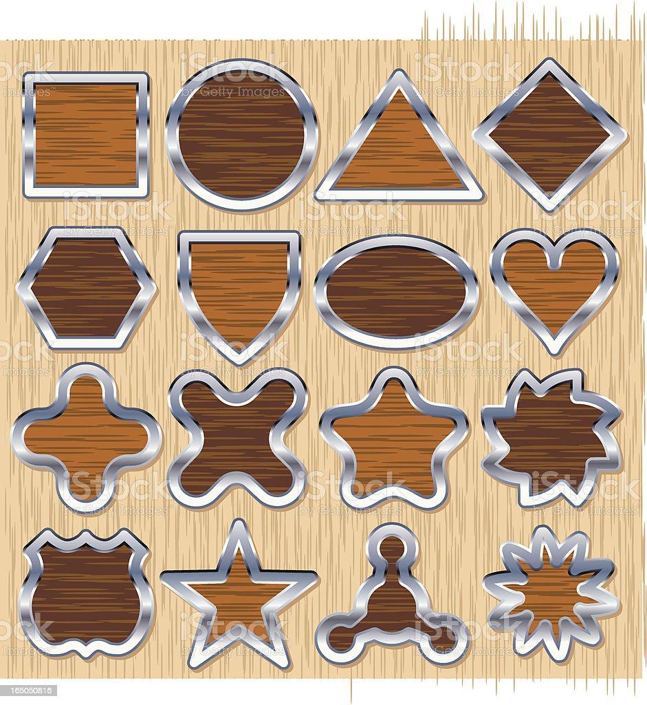 Sixteen Wooden Emblems royalty-free sixteen wooden emblems stock vector art & more images of atom