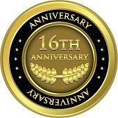Sixteenth Anniversary Gold Medal