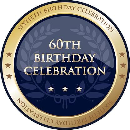 Sixtieth Birthday Celebration Gold Award