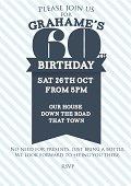 Sixtieth Birthday invitation