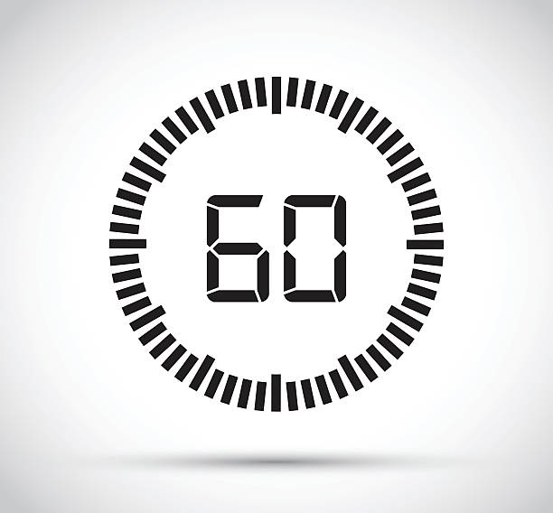 sixty second timer - single object stock illustrations