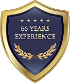 Sixty six years experience gold shield with five stars.