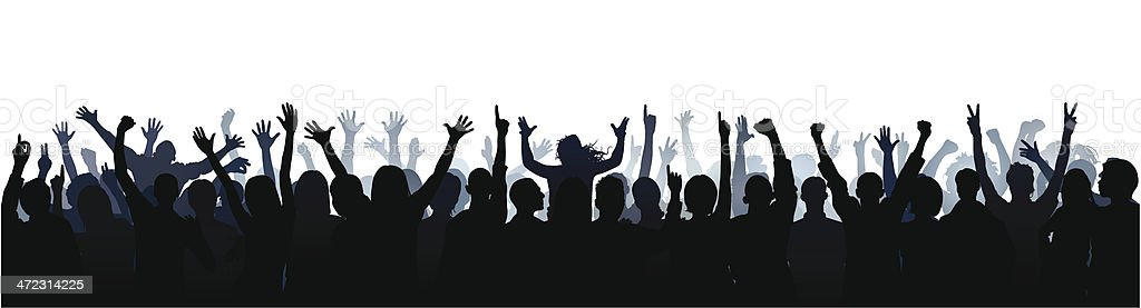 Sixty Unique Highly Detailed People in a Crowd vector art illustration