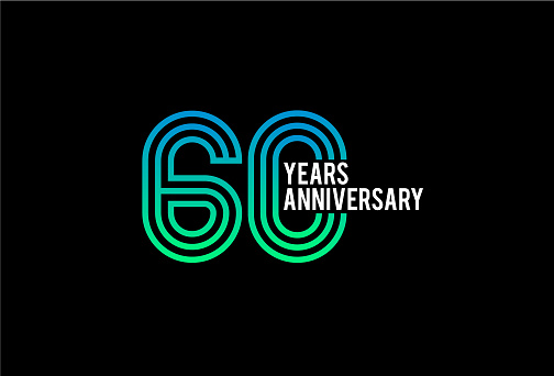 sixty Year anniversary design