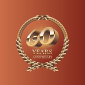 Sixty years anniversary celebration design