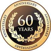 Sixty Years Anniversary Shield