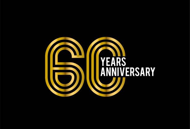 Sixty Years Anniversary vector art illustration