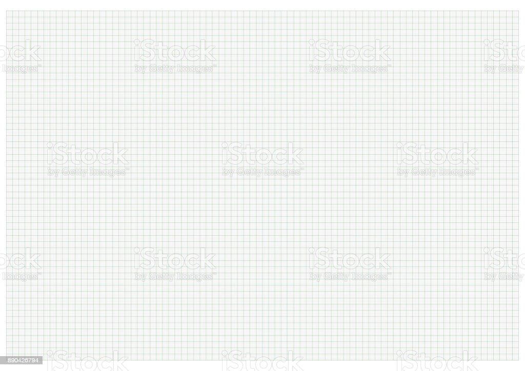 Papel de gráfico tamanho A3 verde - ilustração de arte em vetor