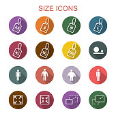 size long shadow icons