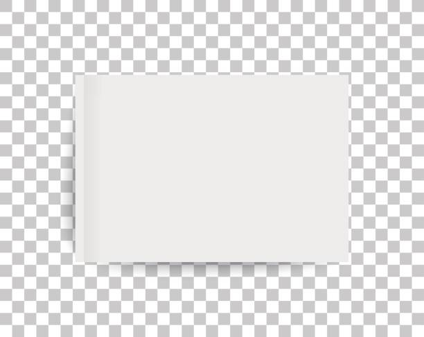 A4 sized mockup of a landscape-oriented magazine or catalogue. Blank sheet of paper. 3d vector illustration for your design. vector art illustration
