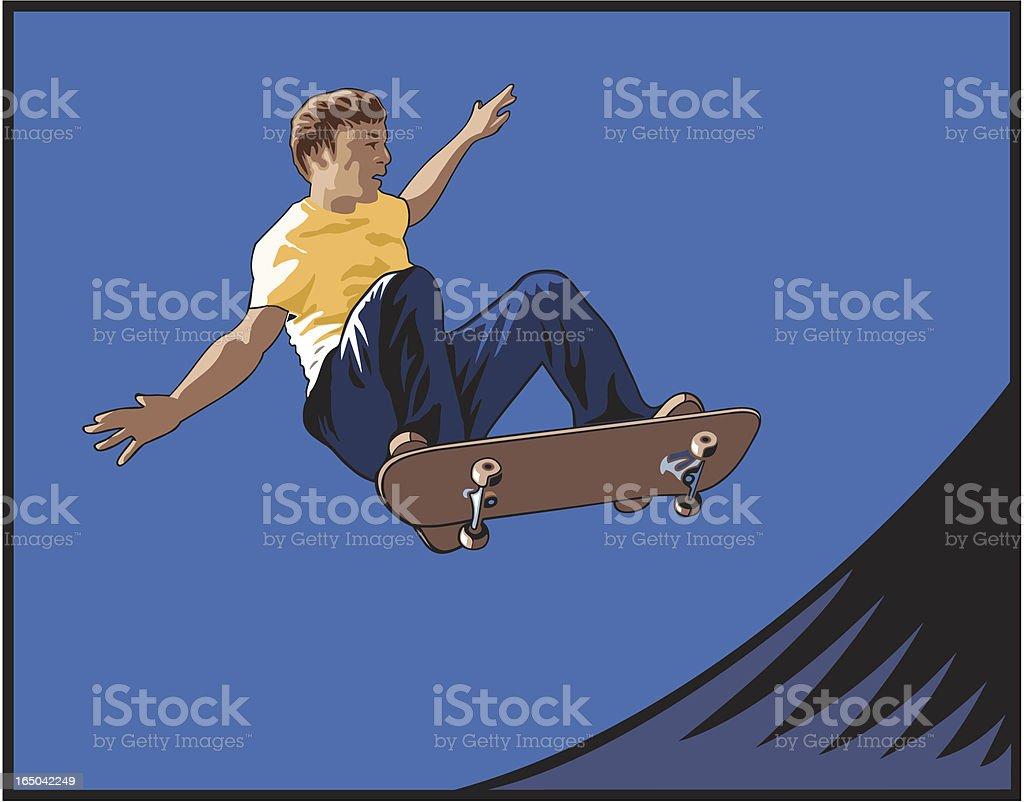 Skate Boarder royalty-free stock vector art