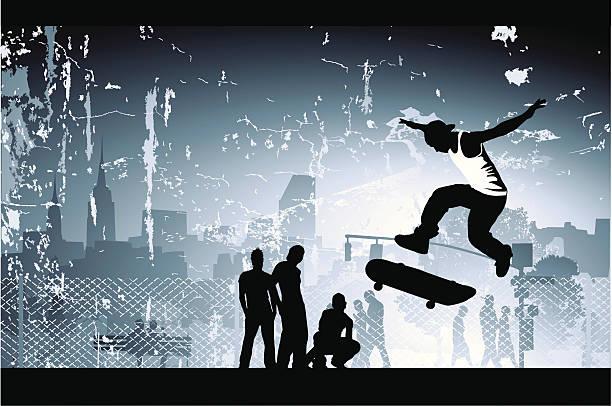 skate boarder - skateboard stock illustrations