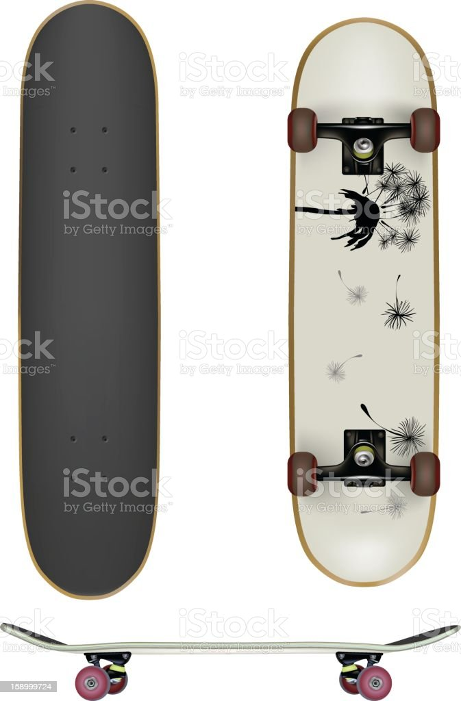 Skate Boards vector art illustration