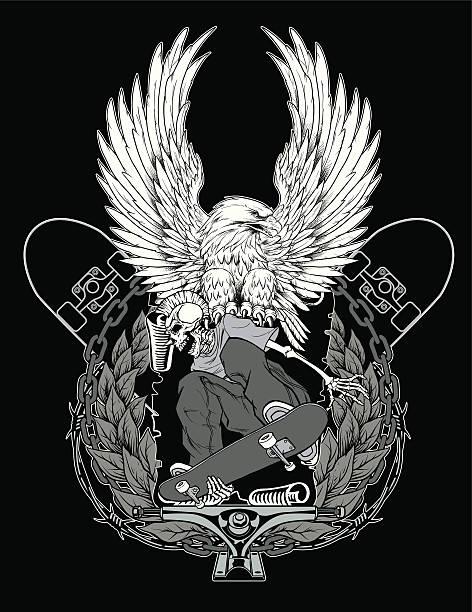 Skate Logo vector art illustration