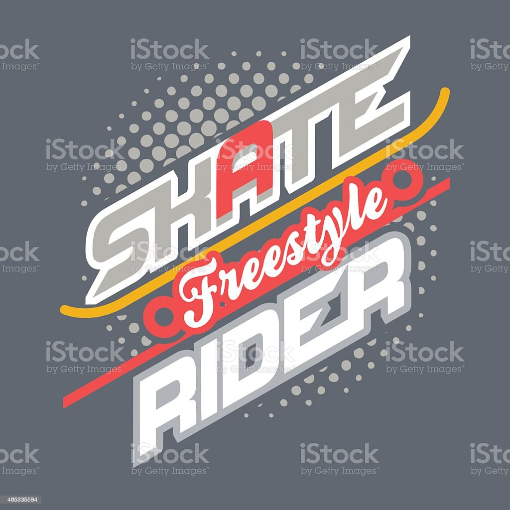 Skate Rider t-shirt typography vector art illustration