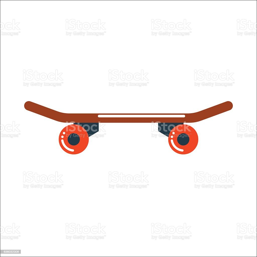 Skateboard board vector isolated vector art illustration