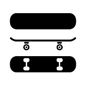 Skateboard from different angles, set skate icon – stock vector