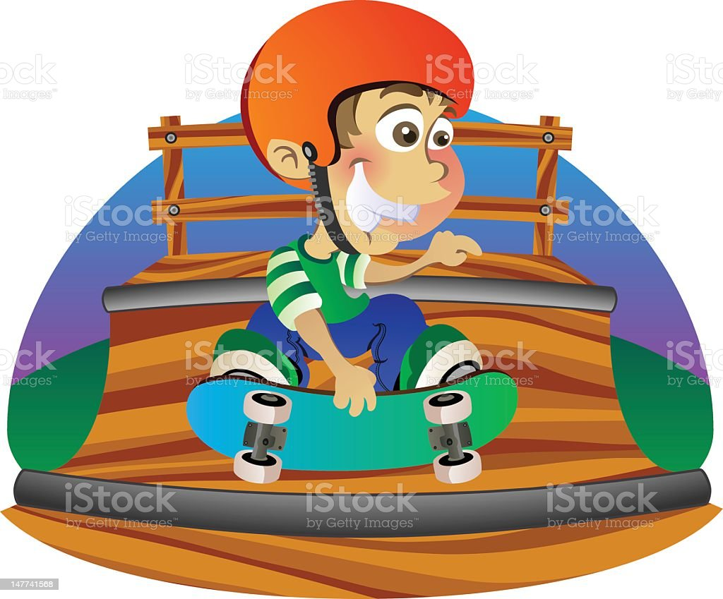 Skateboard grab on a halfpipe royalty-free skateboard grab on a halfpipe stock vector art & more images of boys