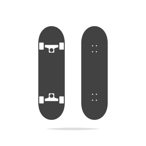 illustrazioni stock, clip art, cartoni animati e icone di tendenza di skateboard icon vector isolated - skate