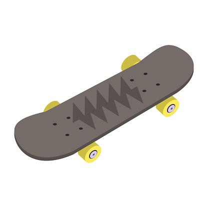 Skateboard isometric icon.