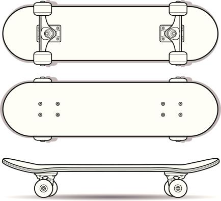 Skateboard Outline