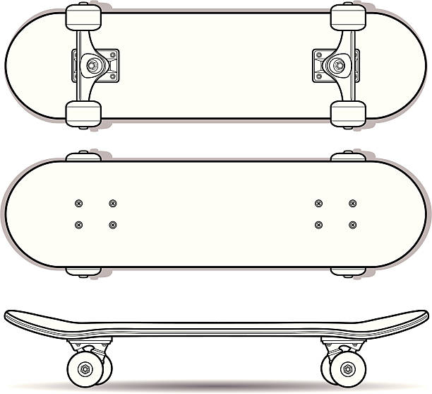 Skateboard Outline http://www.istockphoto.com/file_thumbview_approve.php?size=1&id=19145737 skateboard stock illustrations