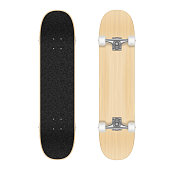 Skateboard template for your design. Vector realistic illustration EPS 10