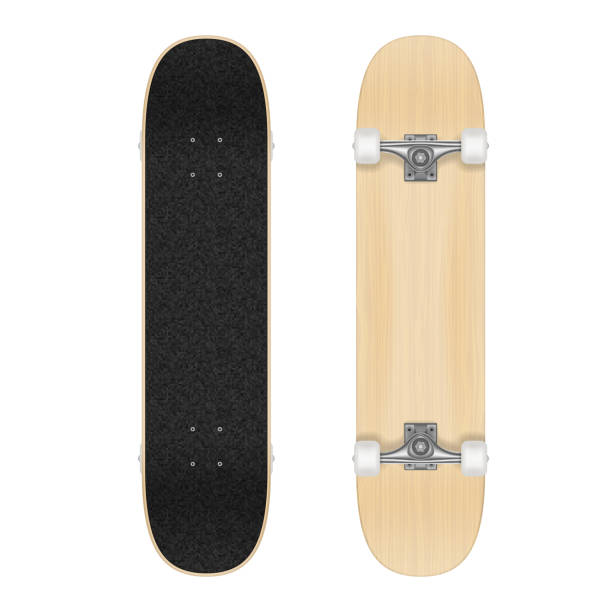 Skateboard template for your design. Vector realistic illustration Skateboard template for your design. Vector realistic illustration EPS 10 skateboard stock illustrations