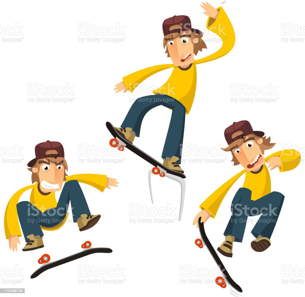 Skateboard Tricks royalty-free stock vector art
