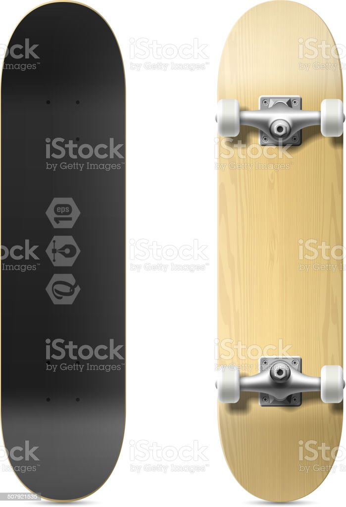 Skateboard vector art illustration
