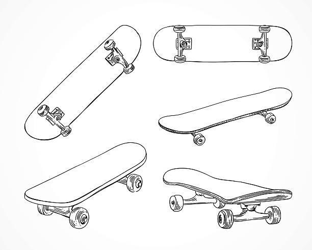 スケートボードのベクトルイラスト。スケーティング機器を完備。外形スケートボード極限スポーツ - スケートボード点のイラスト素材/クリップアート素材/マンガ素材/アイコン素材