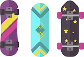 Skateboard vector isolated