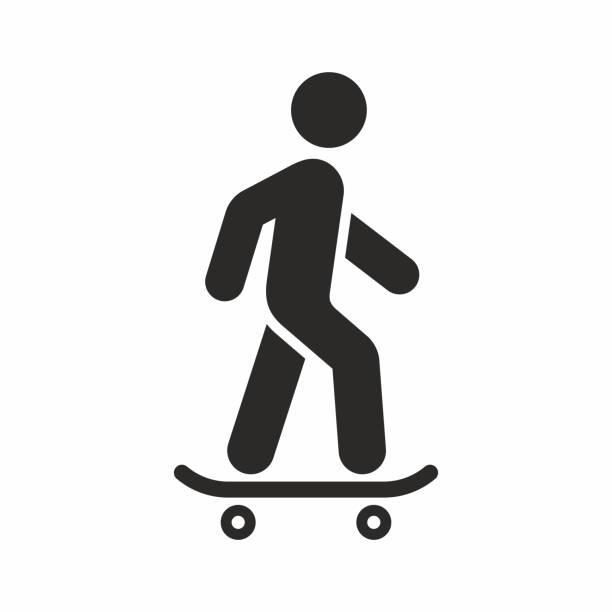 bildbanksillustrationer, clip art samt tecknat material och ikoner med skateboardåkare, skateboard-ikonen - skatepark