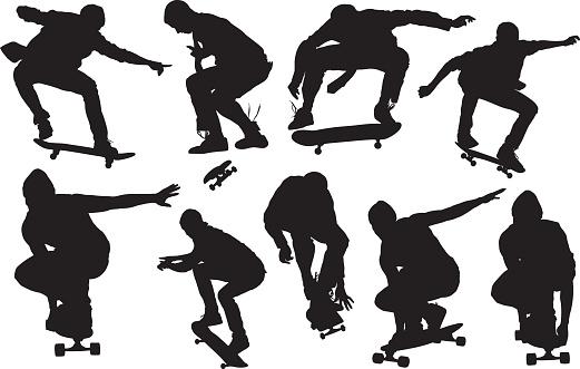 Skateboarder skateboarding