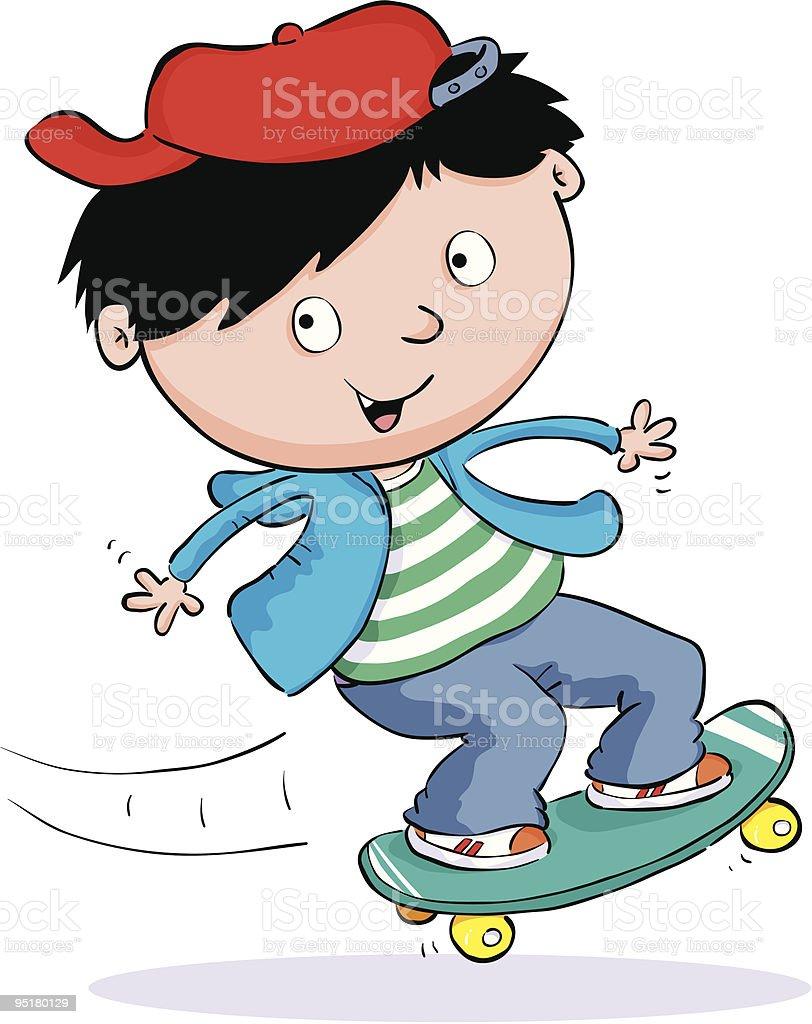 Skateboarding Child royalty-free stock vector art
