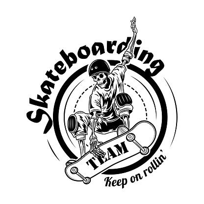 Skateboarding team symbol vector illustration