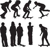 Skateboarding teenager silhouetteshttp://www.twodozendesign.info/i/1.png