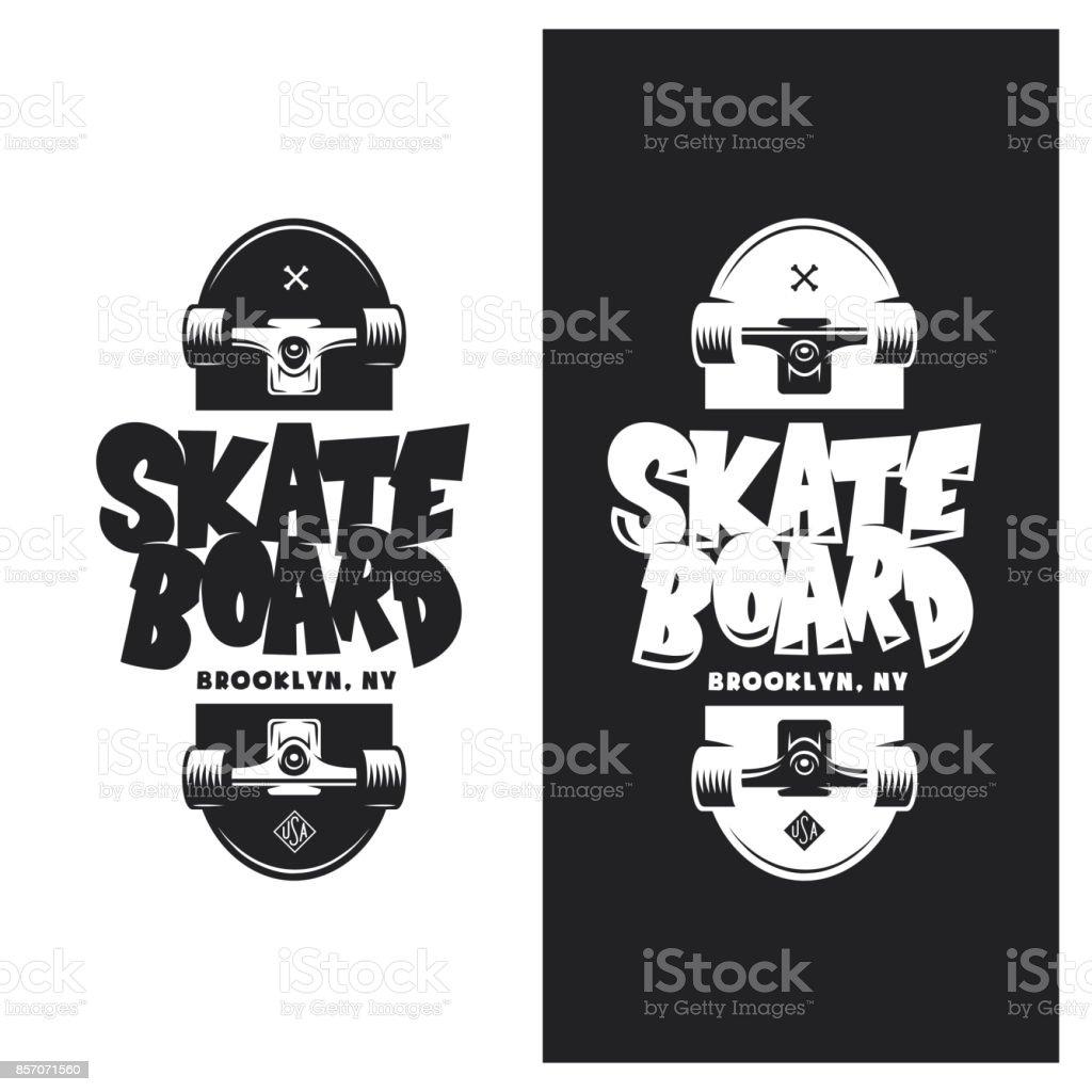 スケート ボード t シャツ デザイン。ベクトル ビンテージ イラスト。 ベクターアートイラスト
