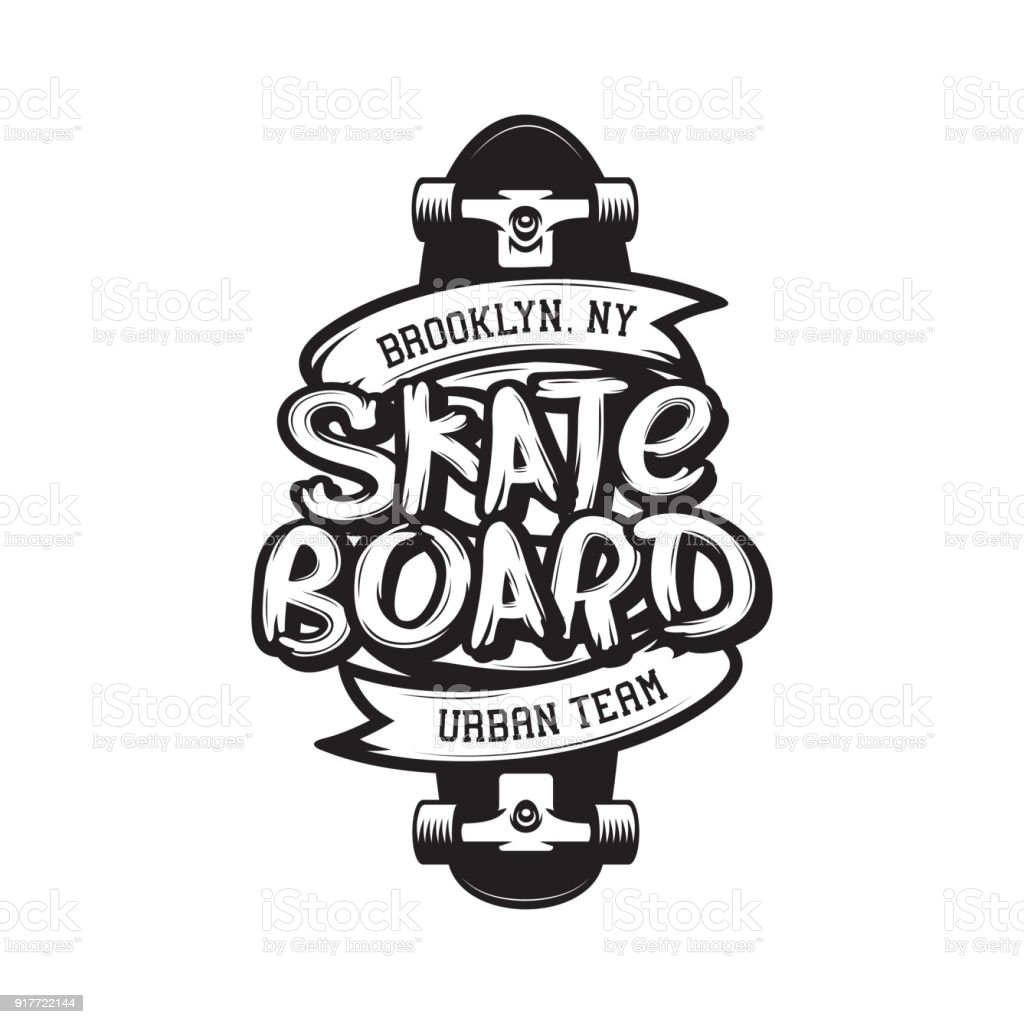 T Shirt Design York: Skateboarding Tshirt Design Vector Vintage Illustration
