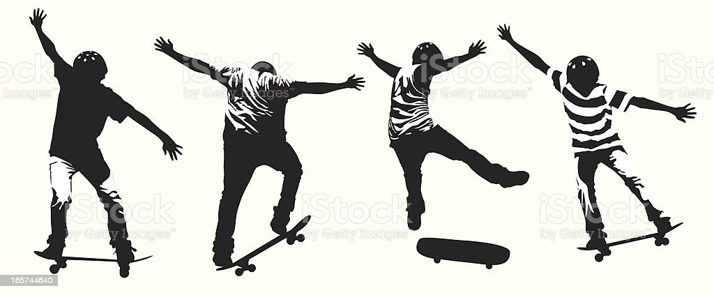 Skateboarding royalty-free skateboarding stock vector art & more images of big air