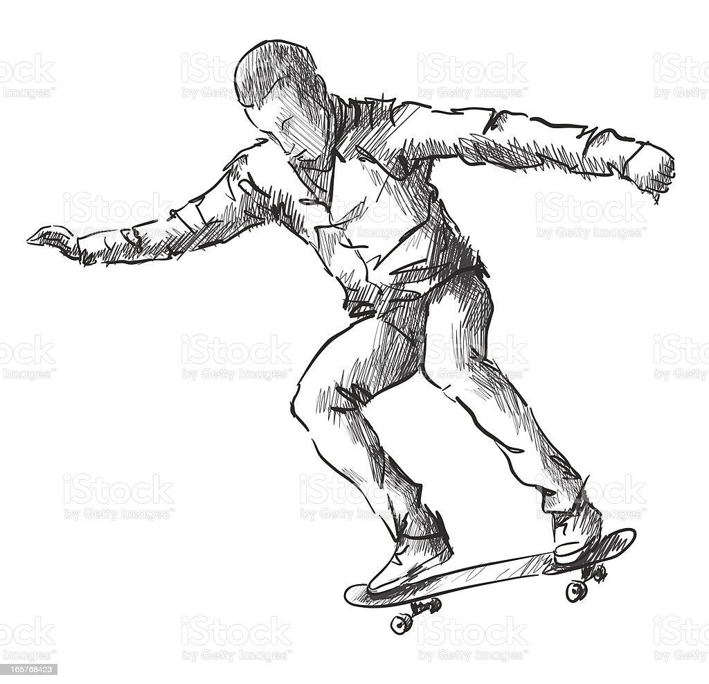 skateboarding royalty-free stock vector art