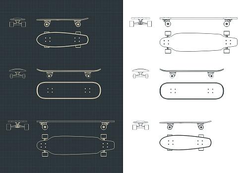 Skateboards Drawings Set