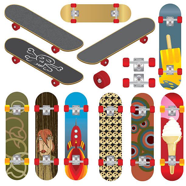 skateboards - スケートボード点のイラスト素材/クリップアート素材/マンガ素材/アイコン素材