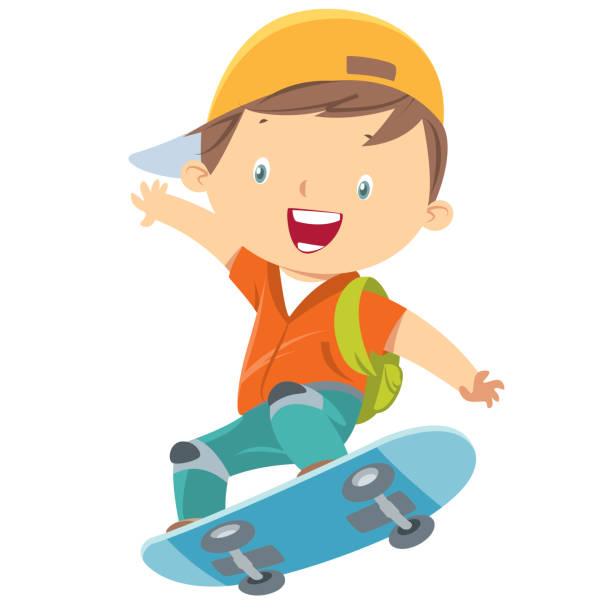 スケート選手少年 - スケートボード点のイラスト素材/クリップアート素材/マンガ素材/アイコン素材