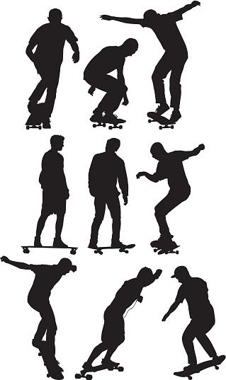 Skater in various actions