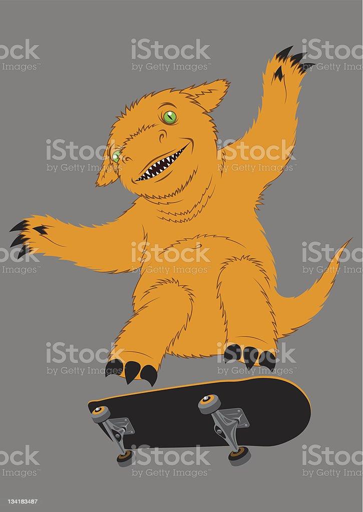 skater monster royalty-free stock vector art