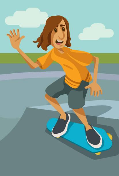 Skater vector art illustration