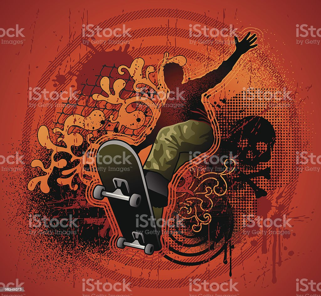 Skater royalty-free skater stock vector art & more images of adult