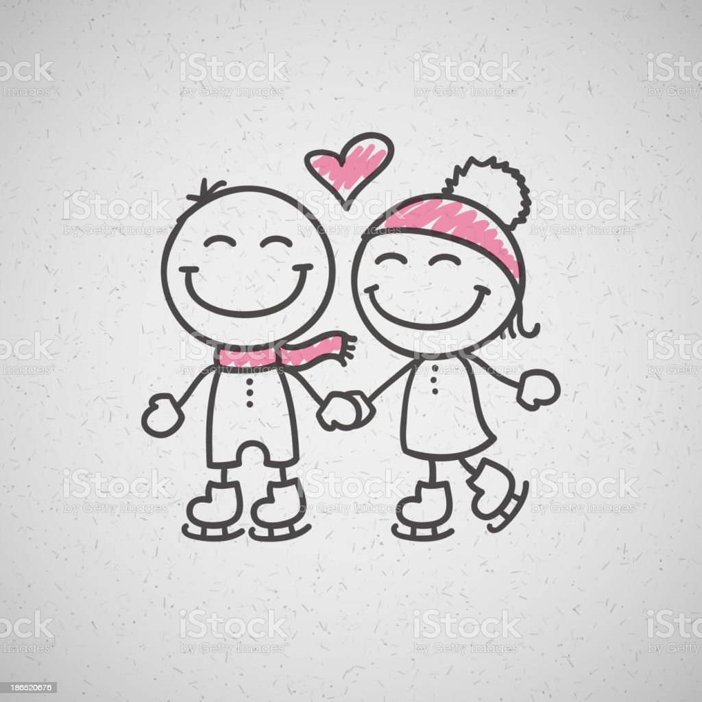 skaters couple royalty-free skaters couple stock vector art & more images of adult